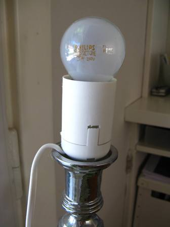 Chez Larsson Candle Stick Lamp How To